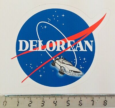 "Sticker / Aufkleber, De Lorean, Back to the Future, ""NASA Design"""