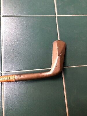 Hickory Golf Club Funky Brass Head Putter With Diamond Back And Wryneck See Desc
