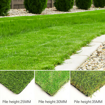 25mm 30mm 35mm Artificial Grass Astro Turf Fake Lawn Realistic Green Garden Sod