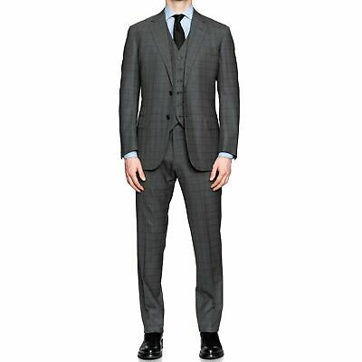 SARTORIA CASTANGIA for LUCIANO BARBERA Gray Wool 3 Piece Suit 50 NEW US 40