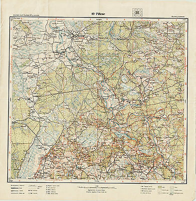1931 Vintage army topographic map PILTENE (Latvia), scale 1:75 000