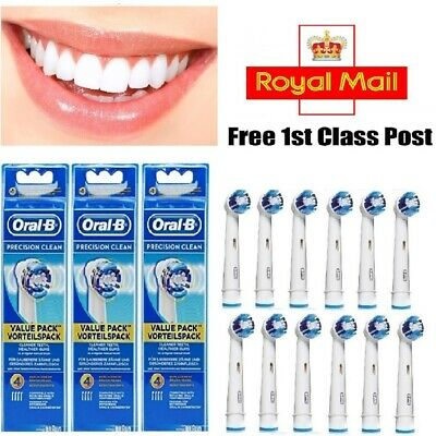 Oral B Replacement Toothbrush Brush Heads - Precision Clean Heads