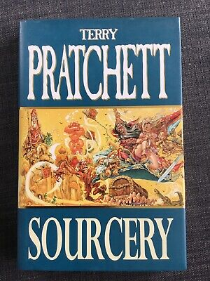 Sourcery, Terry Pratchett, signed, good as new, never read