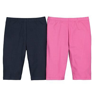 Girls Pack Of 2 Cotton Mix Cropped Leggings 3-12 Years 350174518