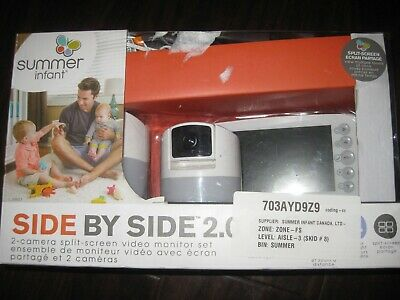 """Summer Infant Side by Side 2.0 5"""" Video Baby Monitor with Dual Camera. Audio Mic"""