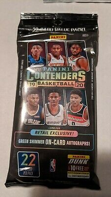 2019-20 Panini Contenders Basketball Fat Pack - ZION, JA RC Green Autos RARE