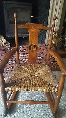 Liberty and Co, William Birch Arts And Crafts Childs Rocking Chair