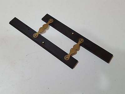 "6"" Brass & Ebony Parallel Rule w 1 1/8"" Throat 27587"