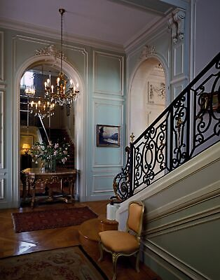 Photo of Hall and stairway in the home of the Belgian ambassador to the U.S., j