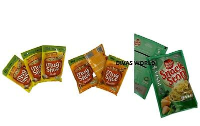 Mug Shot Pasta Noodles Pack Of 3 Various Flavours Ready Made Food Easy Cook 5Min