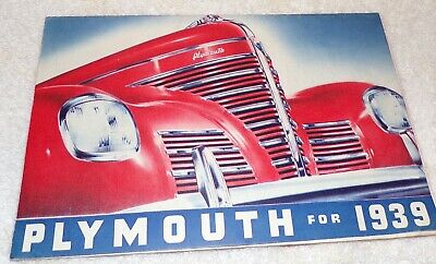 Plymouth for 1939 Fold Out Sales Brochure Literature
