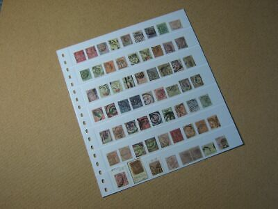 Double-Sided Stock Sheet of Very Old GB Stamps - Victoria
