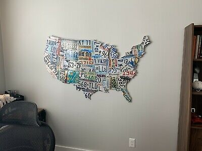 Large License Plate Map of the USA