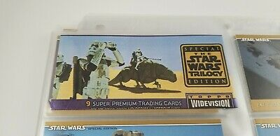 Topps Star Wars Widevision Trilogy Special Edition 1997 Complete 72 Cards Sleeve