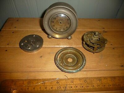 Antique Junghans / HAC Desk Clock- small round movement with rear winder -repair