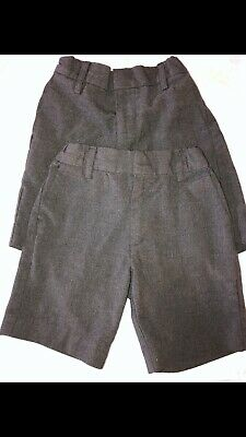 Marks and Spencer Boys Grey School Shorts Age 4-5 Years