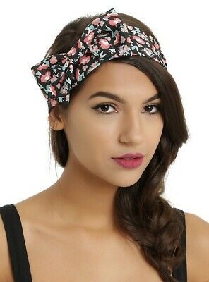 Loungefly Disney The Little Mermaid Ariel Rose Floral Headband With Bow Elastic