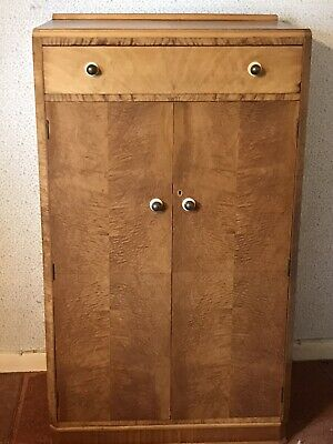 Original Art Deco Gentlemans Wardrobe