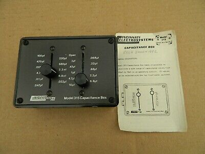 Vtg 1982 Capacitance Box Model 315 USA Made By Cincinnati Electrosystems Inc.
