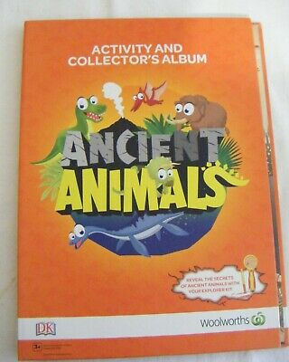 Woolworths Activity Collectors Album and full set of cards.Ancient Animals.