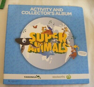 Woolworths Activity Collectors Album and full set of cards.Super Animals.