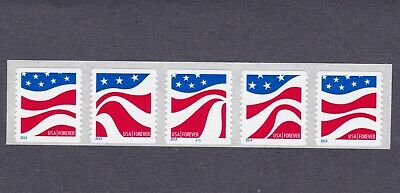 PNC5 49c Forever Red White and Blue Flag C11 US 4897a 5 Digit BN  MNH F-VF