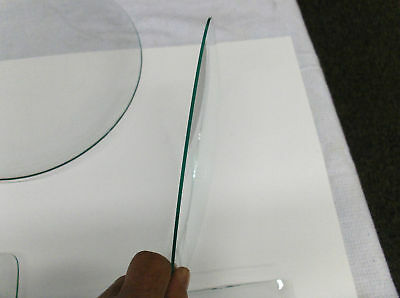 """NEW CONVEX Clock Glass, 6 3/8"""" Clear NEW STOCK,1.70 mm thick,1/2"""" rise"""