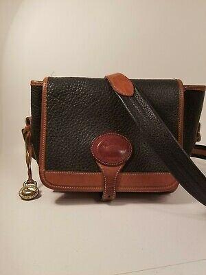 Vintage Dooney and Bourke Small Crossbody Bag Purse Vintage All Weather Leather