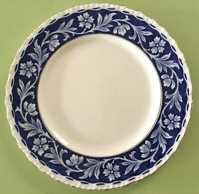 Grindley potteries England Elysian entrée plate blue and white china in EC