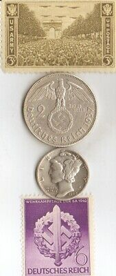 """*king """"TUT"""" coin +*antique *WW2-SILVER(.900%+.625%)-*us and *german coins/STAMPS"""