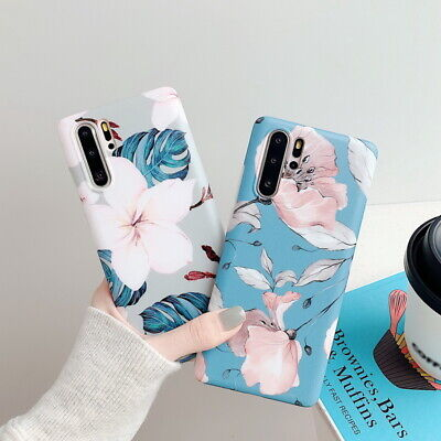 For Huawei P30 Pro P20 Mate 30 20 Lite Matte Flower Silicone TPU Soft Case Cover