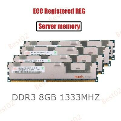 For Hynix 32GB 4X8GB PC3-10600R DDR3-1333M​Hz CL9 240Pin ECC Registered REG