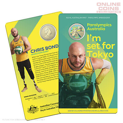 2020 $1 AlBr Coloured Frosted Uncirculated Coin - Australian Paralympic Team