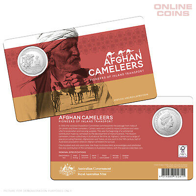 2020 50c CuNi Uncirculated Coin Afghan Cameleers - Pioneers of Inland Transport