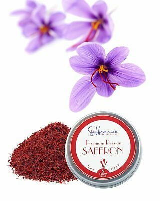 Saffronice Certified GMO-Free Premium Saffron Threads 5 Grams
