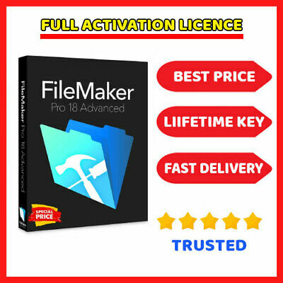 FileMaker Pro Advanced 18.0.3  🔑 Lifetime License key ⭐ Fast Dilevery