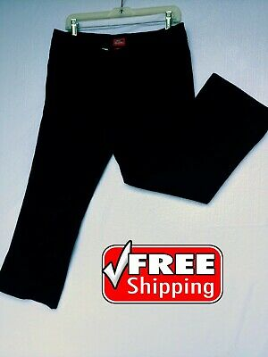 Dickies Women's Dress Pants stretch Ankle Slim Size 15 color black