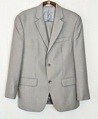 Michael Kors Gray Mens 38S Double Vent Notch Lapel Suit Coat & Pants Poly/Rayon