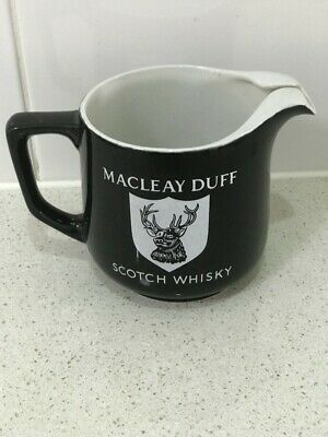 Macleay Duff scotch whisky collectables jug