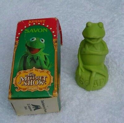 Vintage 1978 Kermit the Muppet SHOW soap.Made England