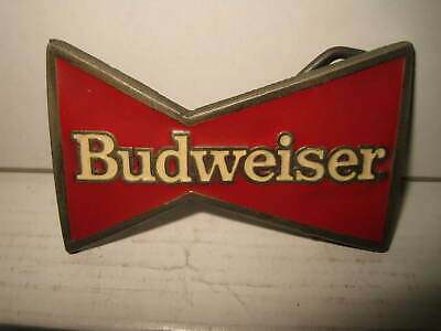 Budweiser Beer 1989   Ltd Ed Made In The Usa    Belt Buckle   Old Shop Stock   B