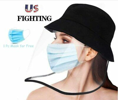 Safety Face Shield  Sun Hat Visor Mask Full Face Shield Protective Cap Fisherman