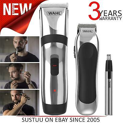 Wahl Mains Rechargeable Hair Clipper Gift Set│Beard/Stubble/Ear/Nose Trimmer