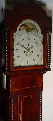 "Antique Mahogany Moon Phase  ""  Newmarket ""  Longcase / Grandfather Clock"