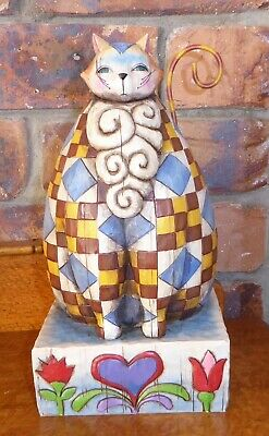Fred The Fat Cat by Jim Shore Heartwood Creek Figurine approx 27 x 14cm (in Box)