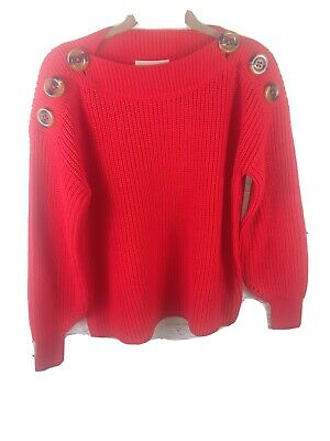 Philosophy Womens Size small  Red Sweater Pullover Republic Clothing New
