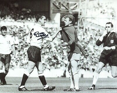Tottenham Hotspur legend DAVE MACKAY signed Spurs v Leeds photo - UACC DEALER