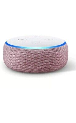 Amazon Echo Dot (3rd Generation) - Smart Speaker with Alexa - Plum Fabric TV NEW
