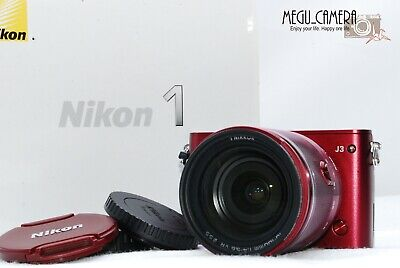[EXC+++++] Nikon 1 J3 Digital Camera Nikkor 10-30mm 1:3.5-5.6 Lens -Red  M455