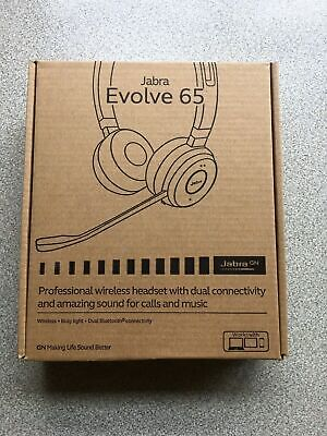 Jabra Evolve 65 UC Wireless Headset with Noise Cancellation - BRAND NEW